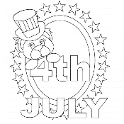 4th July Digi Stamp
