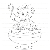 Sweet Thing Banana Split Digi Stamp