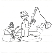 Experience Fisherman Digi Stamp