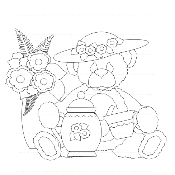 Tea Bear Digi Stamp