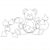 Melon Bear Digi Stamp