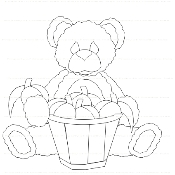 Peach Bear Digi Stamp