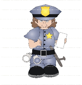 When I Grow Up Police Officer-Girl