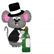 Manny Mouse New Years