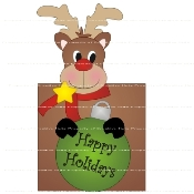 Rudolph Hershey Candy Wrapper