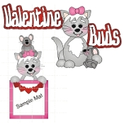 Valentine Buds Cat-Mouse