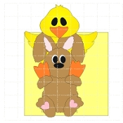 Chick and Bunny Candy Wrapper