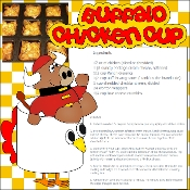 Buffalo Chicken Cups Scrapbook Recipe Page