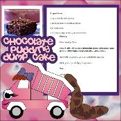 Chocolate Pudding Dump Cake Scrapbook Recipe Page