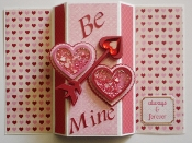 Be Mine Shaker Card