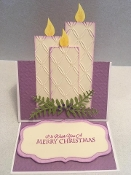 Candle Easel Card