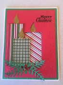 Merry Christmas Candle Card