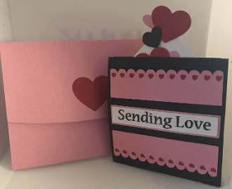 Sending Love Box Slider Card